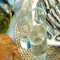 Tsipouro double distilled with anise